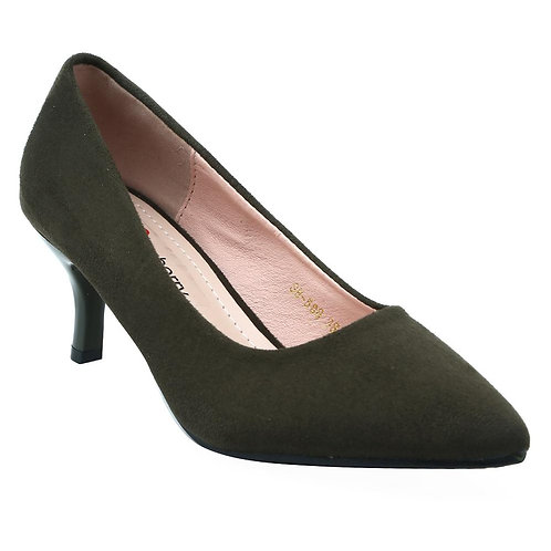Shuberry SB-19072 Suede Green Pumps For Women & Girls