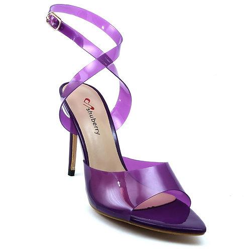 Shuberry SB-19026 Synthetic Purple Heels For Women & Girls