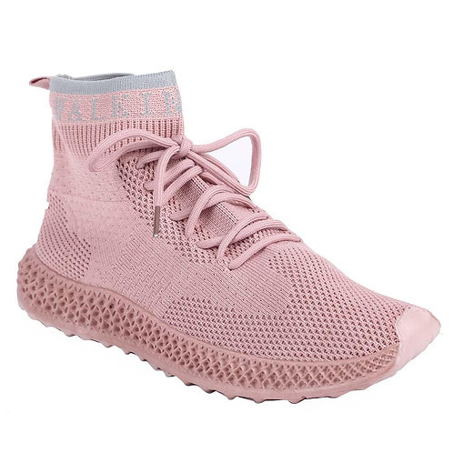 Shuberry SB-19062 Fabric Pink Sock Sneakers  For Women & Girls