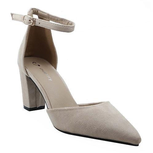 Shuberry SB-19017 Suede Beige Heels For Women & Girls