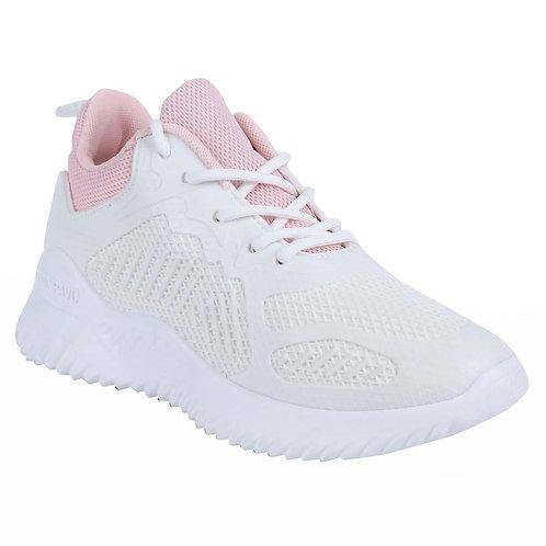 Shuberry SB-19069 Mesh White & Pink Running Shoe For Women & Girls