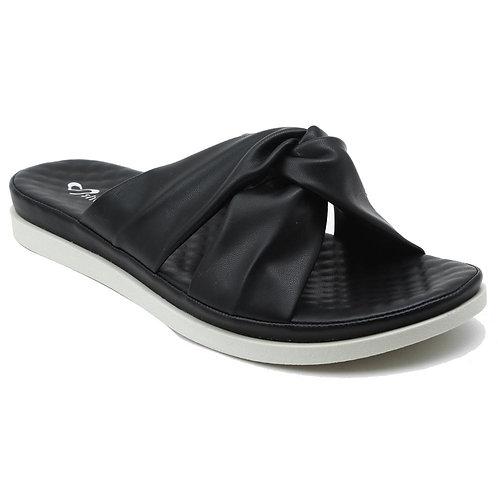 Shuberry SB-19073 Faux Leather Black Sandal For Women & Girls