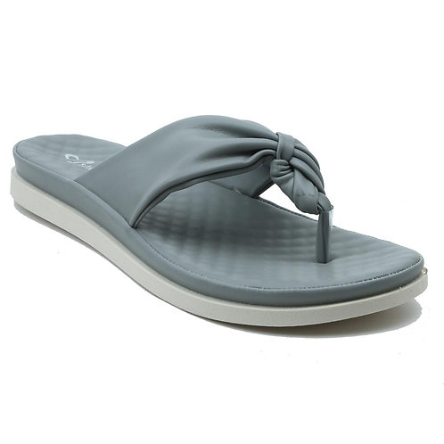 Shuberry SB-19075 Faux Leather Grey Sandal For Women & Girls