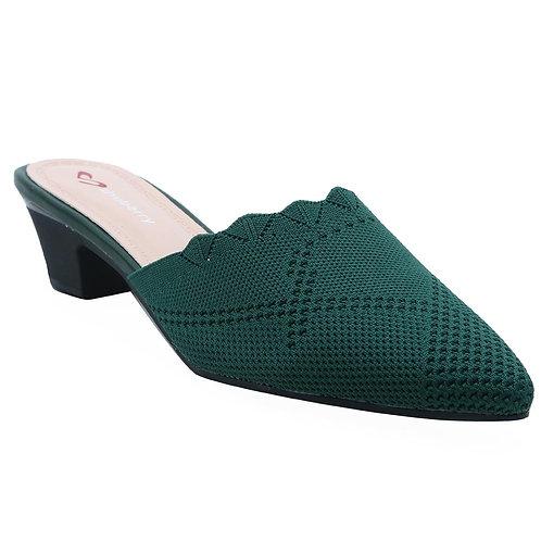 Shuberry SB-19051 Fabric Green Sandal For Women & Girls