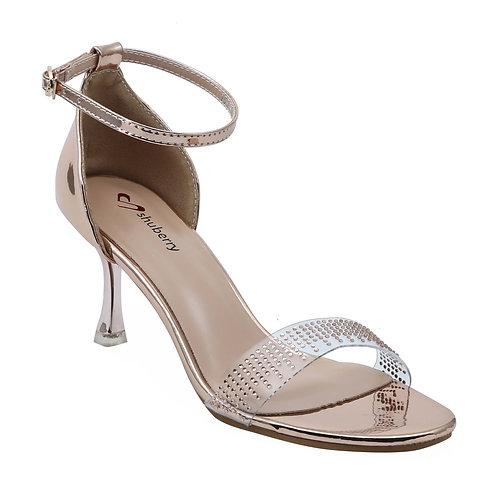 Shuberry SB-19003 Patent Champagne Heels For Women & Girls