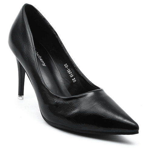 Shuberry SB-19019 Patent Black Pumps For Women & Girls
