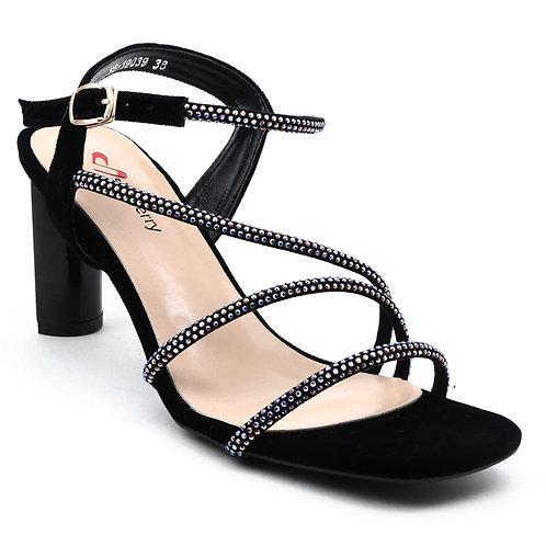 Shuberry SB-19039 Velvet Black Sandal For Women & Girls