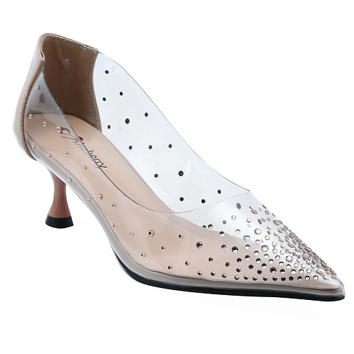 Shuberry SB-19001 Synthetic Beige Pumps For Women & Girls