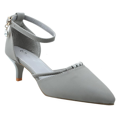 Shuberry SB-19047 Faux Leather Grey Sandal For Women & Girls