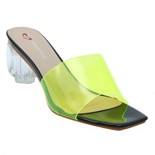 Shuberry SB-19028 Synthetic Green Sandal For Women & Girls