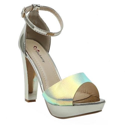 Shuberry SB-19030 Patent Gold Heels For Women & Girls
