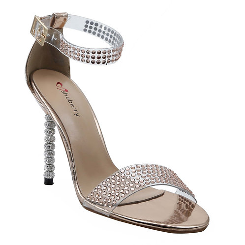 Shuberry SB-19002 Patent Champagne Heels For Women & Girls