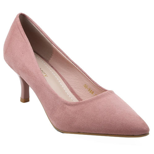Shuberry SB-19072 Suede Pink Pumps For Women & Girls