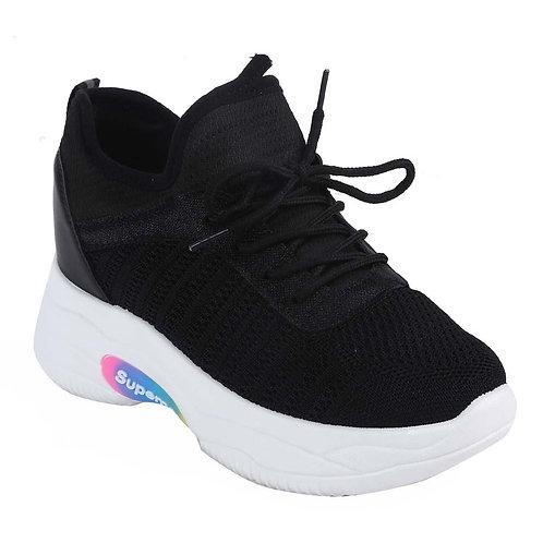 Shuberry SB-19066 Mesh Black Sneaker For Women & Girls
