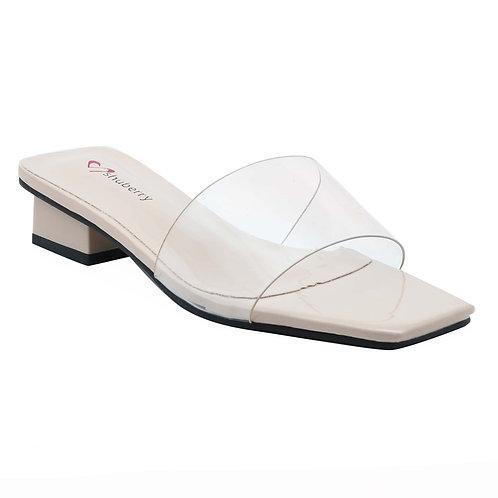 Shuberry SB-19013 Patent Beige Sandal For Women & Girls