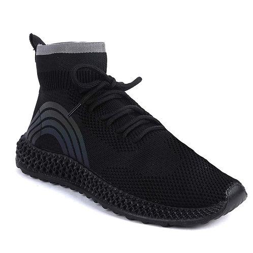 Shuberry SB-19065 Fabric Black Sock Sneacker For Women & Girls