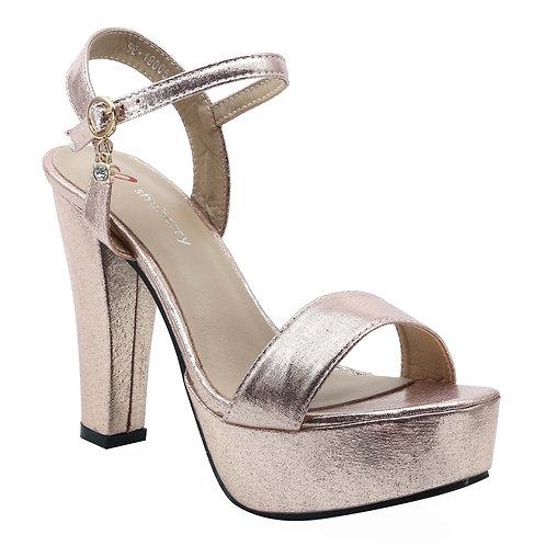 Shuberry SB-19005 Satin Champagne Heels For Women & Girls