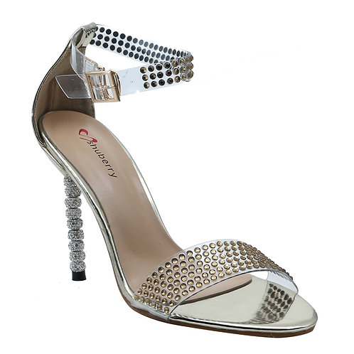 Shuberry SB-19002 Patent Gold Heels For Women & Girls