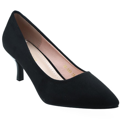 Shuberry SB-19072 Suede Black Pumps For Women & Girls