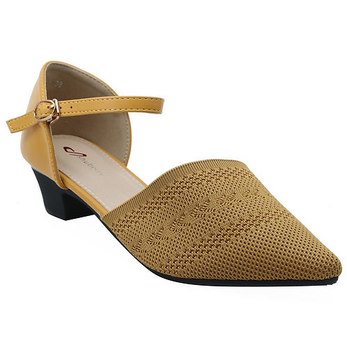 Shuberry SB-19054 Fabric Yellow Sandal For Women & Girls