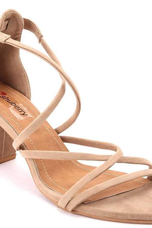 Shuberry SB-Z1803 Velvet Beige Sandal For Women & Girls