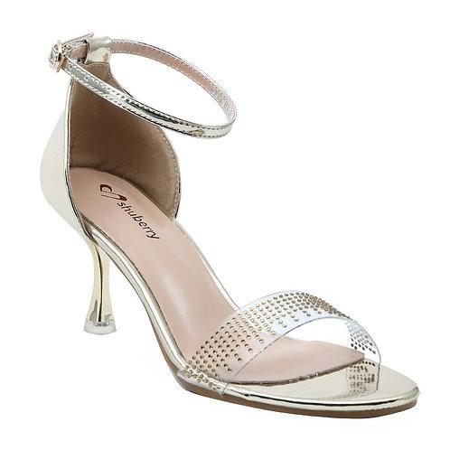 Shuberry SB-19003 Patent Gold Heels For Women & Girls