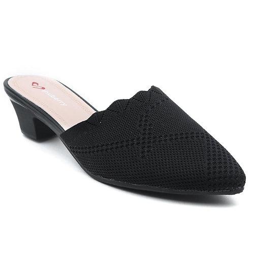 Shuberry SB-19051 Fabric Black Sandal For Women & Girls