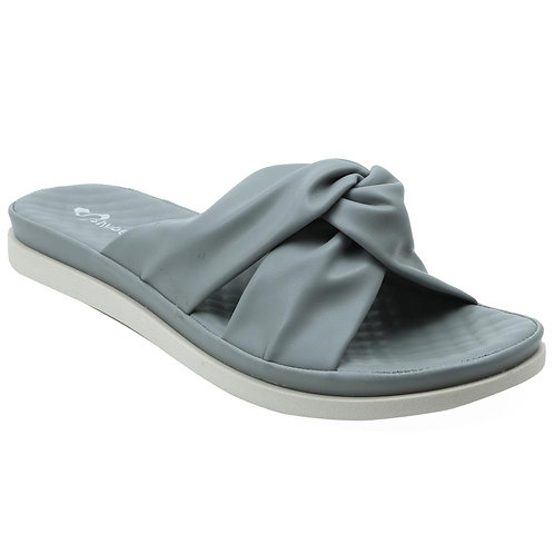 Shuberry SB-19073 Faux Leather Grey Sandal For Women & Girls