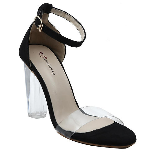 Shuberry SB-19025 Suede Black Heels For Women & Girls