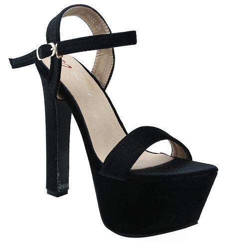 Shuberry SB-19022 Velvet Black Heels For Women & Girls