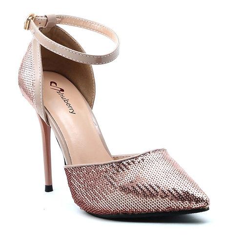 Shuberry SB-19009 Sequin Beige Heels For Women & Girls