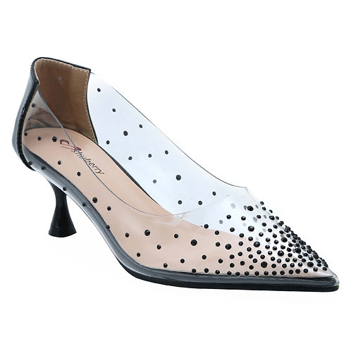 Shuberry SB-19001 Synthetic Black Pumps For Women & Girls
