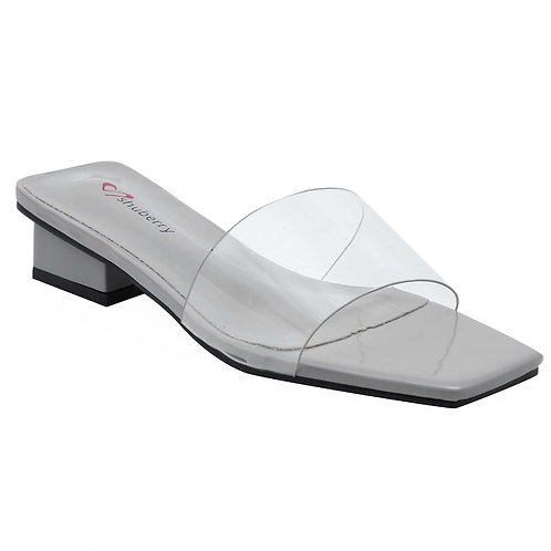 Shuberry SB-19013 Patent Grey Sandal For Women & Girls