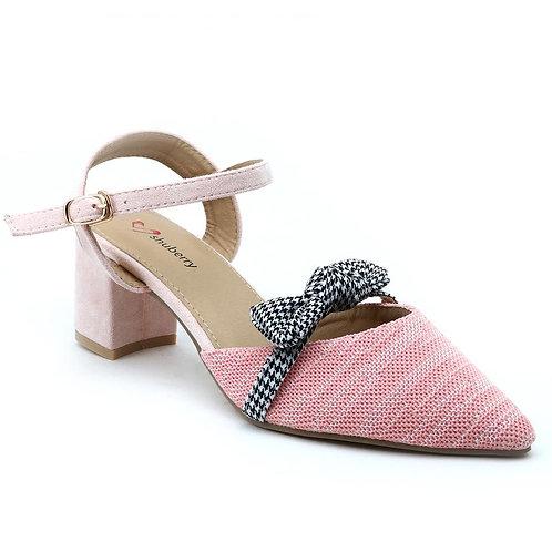 Shuberry SB-19050 Fabric Peach Sandal For Women & Girls