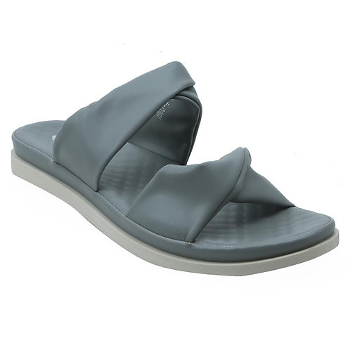 Shuberry SB-19074 Faux Leather Grey Sandal For Women & Girls