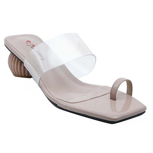 Shuberry SB-19012 Patent Khaki Sandal For Women & Girls