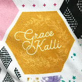 Personalized Hexagon Grace Kalli Girl Po