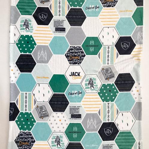 LDS Hexagon Blanket - Geo Faith