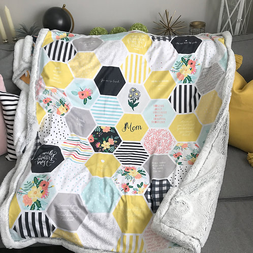 Customized Mom Love Blanket