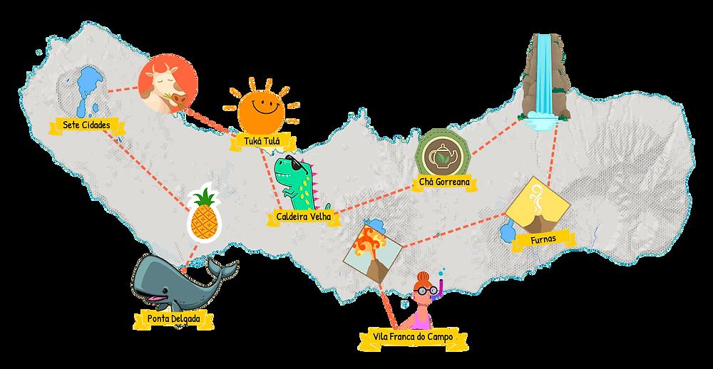 Mappa itinerario Azzorre