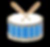 Palio di Siena tamburi in contrada