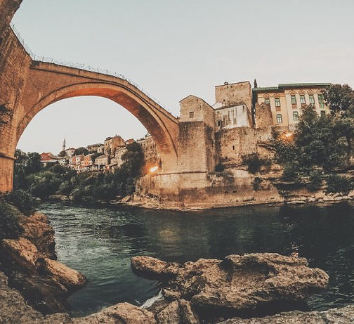 Lo Stari most a mostar in bosnia on the road