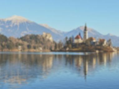 Il lago di bled slovenia on the road