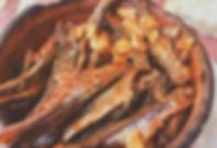 un piatto di cironki in Macedonia
