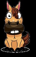 cavallo cartoon del Palio di Siena