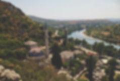 Pocitelj la città ottomana di pietra Bosnia on the road