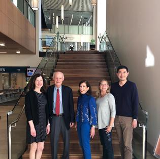 Lisa and San Mateo Library Board members