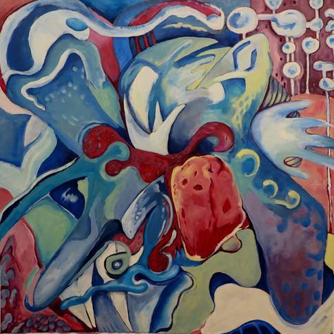 POETICO ORDINE DEL CAOS Acrilico su carta 29.02.2016 cm.93 x93