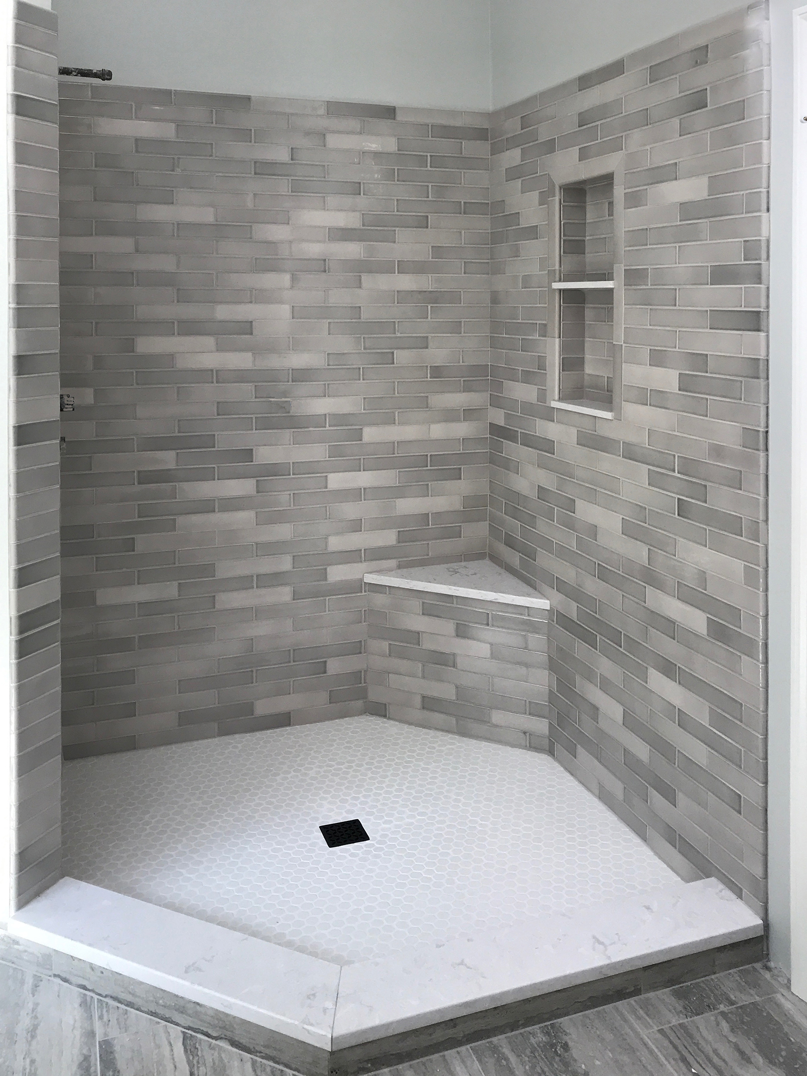 Madison, CT Shower Touch of Gray 2 x 8