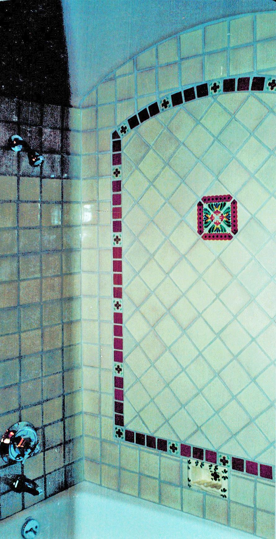 Bath 10 4 x 4 Blanco, Cadena 2 x 2 Terra